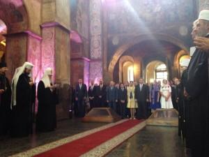 Bön för Ukraina i Sophiakatedralen