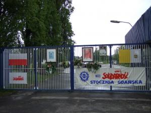 Gdansk, Leninvarvets grind, foto Klaus Misgeld 2009