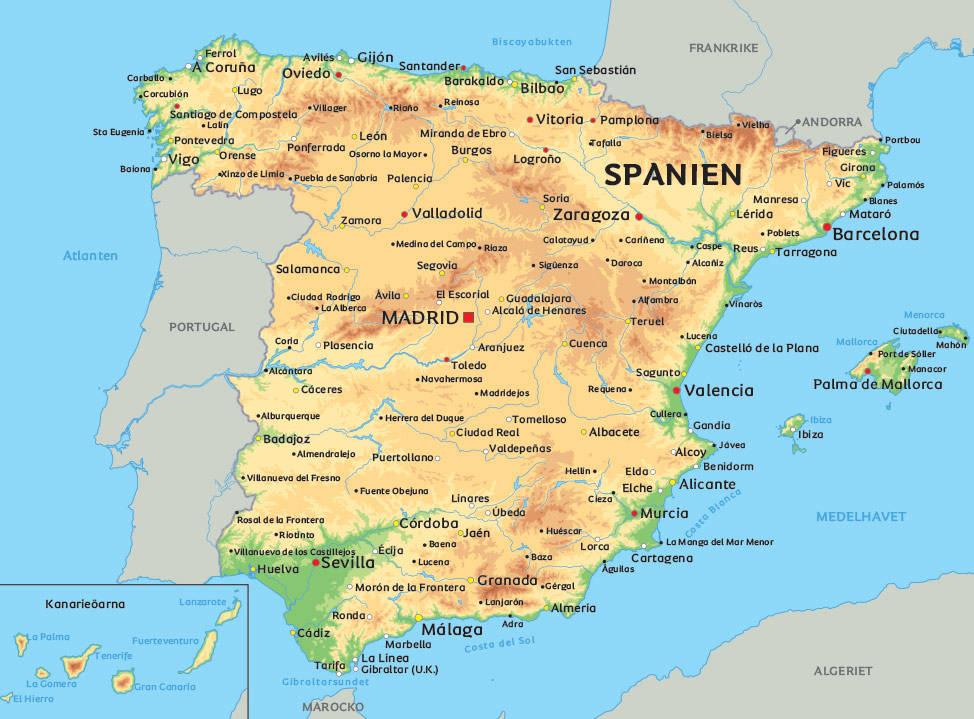 karta av spanien Spanska katoliker: 40 procent för Rajoy och 14 för Podemos | Signum karta av spanien